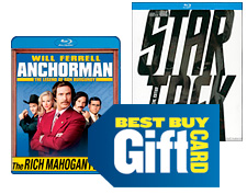 Blu ray movies and gift card