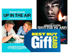 DVD movies and gift card