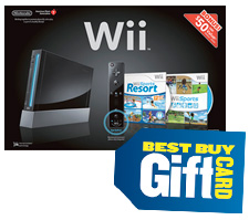 Wii console and gift card