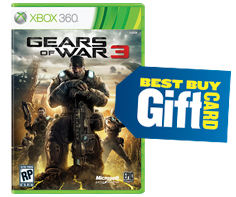 Gears of War 3 and Best Buy gift card
