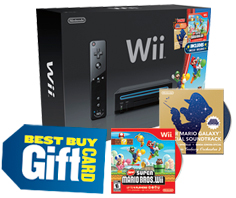 Wii console, gift card