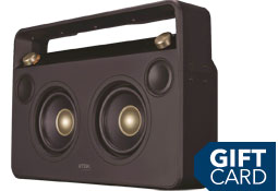 Wireless boombox and gift card