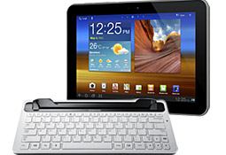 Tablet and keyboard dock