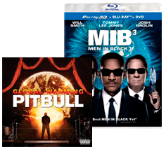 Men in Black 3 movie and Pitbull CD