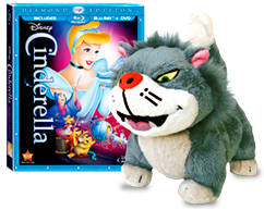 Cinderella and plush toy