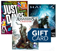 Video games and gift card