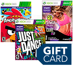 Kinect games and gift card