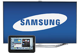 Samsung TV and tablet