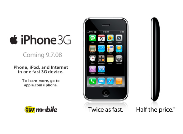 Apple iPhone G3 coming September 7