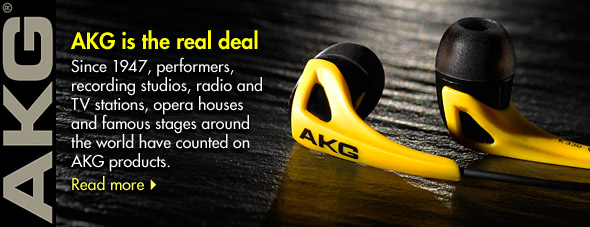 AKG is the real deal. Since 1947, performers, recording studios, radio and TV stations, opera houses and famous stages around the world have counted on AKG products.
