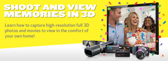 SHOOT AND VIEW MEMORIES IN 3D. Learn how to capture high-resolution full 3D photos and movies to view in the comfort of your own home!