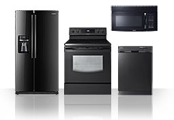 Samsung black kitchen appliances