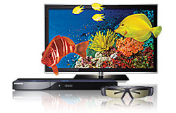 3D HDTV, Blu-ray player and 3D glasses
