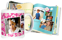 Shutterfly logo photo book and camcorder