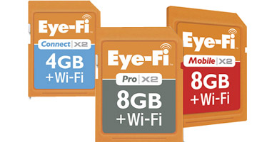 Eye-Fi memory card lifestyle photo