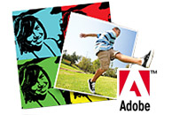 Adobe logo and photos