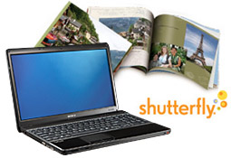 Shutterfly photo book and PC