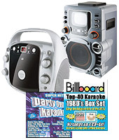 Karaoke machines and CDs