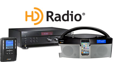 HD radio logo and products
