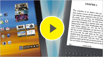 Tablets vs. E-Readers Video