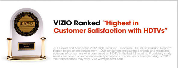 VIZIO Ranked Highest in 