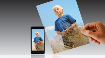 Wirelessly print photos