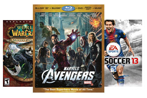 Avengers, FIFA 13, World of Warcraft