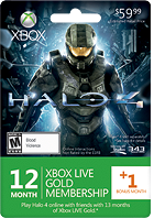 Microsoft - 12+1 Month Halo 4 Xbox LIVE Gold Membership