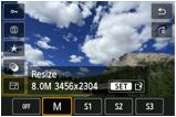 JPEG resizing screen