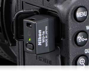 DSLR camera, wireless adapter