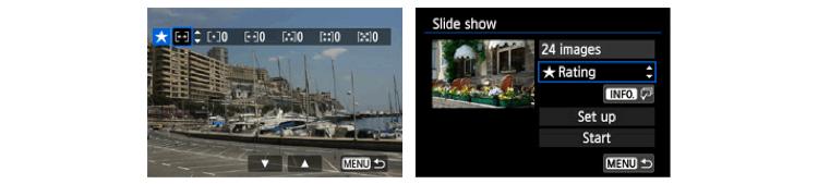 Marina, image rating menu