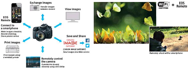 Camera, smartphone, graphics and Camera with smartphone remote