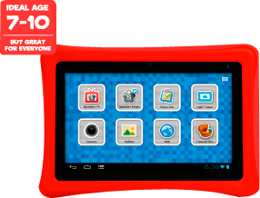 Tablet, ideal age 7-10, but great for everyone, learn, play, grow