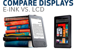 Compare Displays: E-ink versus LCD