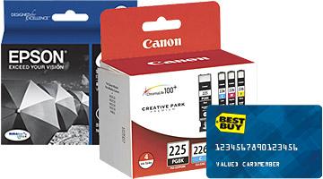 Tinta y tarjeta de crédito My Best Buy