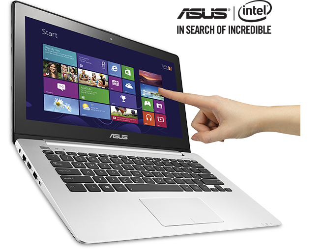 Convertible laptop with tablet portion separated