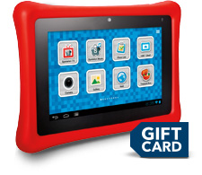 Tablet, gift card