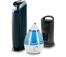 Air purifier, humidifier, heater