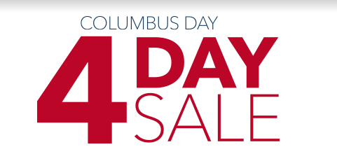Columbus Day 4-Day Sale