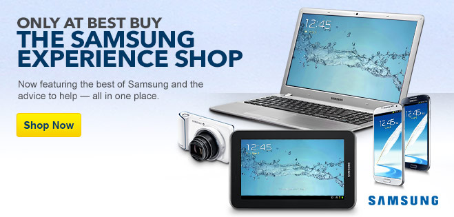 Only at Best Buy: The Samsung Experience Shop. Featuring the best of Samsung and the advice to help; all in one place. Shop now.