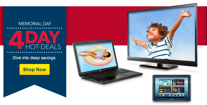 Memorial Day 4-day hot deals. Dive into deep savings. Shop now.