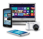 Samsung, laptop, tablet, camera, mobile phone