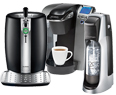 Coffeemaker, beer dispenser, and soda maker