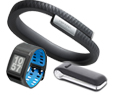 Fitbit, Jawbone, and Nike