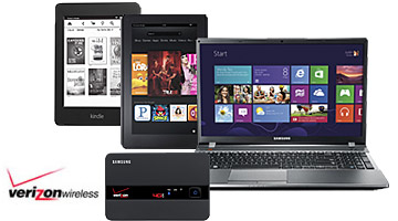 Mobile hotspot, tablet, e-reader and laptop, Verizon Wireless