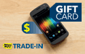 Mobile phone, gift card