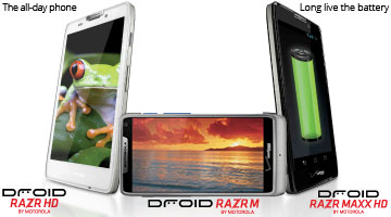 The all-day phone, DROID RAZR HD by Motorola, DROID RAZR M by Motorola, long live the battery, DROID RAZR MAXX HD by Motorola