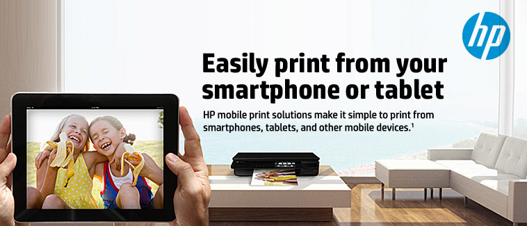 Easily Print from Your Smartphone or Tablet.