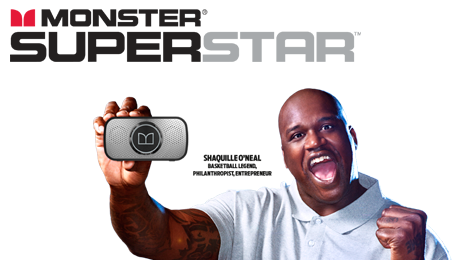 Wireless speaker, Monster, Shaquille O'Neal