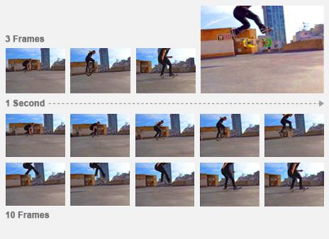 Multiple skateboarding images